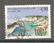 N° 3057 FRANCE - OBLITERE - PARC DE PORT CROS - 1997 - France