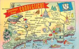 USA - Greetings From Connecticut - Etats-Unis