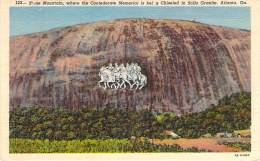 USA - Atlanta - Stone Mountain Where The Confederate Memorial Is Being Chiseled In Solia Granite - Atlanta