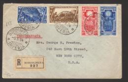 6899- Da Bordighera Per New York 9/3/1934 – Raccomandata – Al Verso Bell'annullo Torino Ferr.America E Timbr - 1900-44 Vittorio Emanuele III