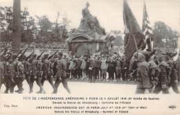 USA - Fête De L'Indépendance Américaine à Paris Le 4 Juillet 1918 (militaria Ww1) - Autres