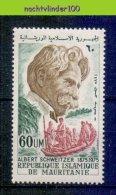 Mbp046 BEROEMDE PERSONEN ALBERT SCHWEITZER BOOT BOAT FAMOUS PEOPLE MAURITANIE 1975 PF/MNH - Albert Schweitzer