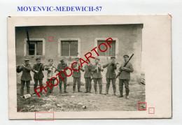 MOYENVIC-Medewich-Concert-musique-Instruments-CARTE PHOTO Allemande-Guerre 14-18-1 WK-FRANCE-57- - Altri Comuni