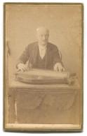 Music, Zither Teacher, Zitherlehrer, Cabinet Photo, ZAGREB ( Agram) Croatia, Dim : 105 X 65 Mm - Berufe