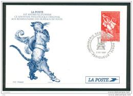 16/9 (zch34) France Entier Postal Le Chat Botté Cat Kat Gato - Domestic Cats
