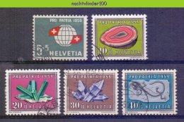 Mwe2317 MINERALEN GEMSTONES MINERALIEN UND GESTEINE MINÉRAUX PRO PATRIA HELVETIA 1959 Gebr/used - Mineralen