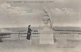 CPA - FRANCE(76) - Le Tréport : Les Terrasses Des Falaises / PUBLICITE - Phographe -Editeur ARNAULT - Publicité