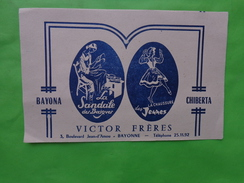 Buvard La Sandale Des Basques -victor Freres A Bayonne -bayona-chiberta-- - Chaussures