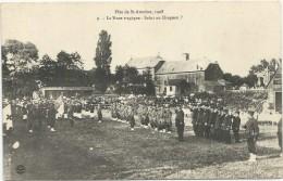 FETE   DE  ST  ANTOINE   1908       LA   NOCE  TRAGIQUE     SALUT   DU  DRAPEAU - Régiments