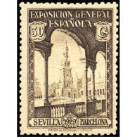 ES441STV-LFT***441Starsc.Spain.Esgane.PRO EXPOSICION SEVILLA BARCELONA.1929 (Ed 441**) - Arquitectura