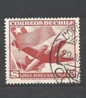 CHILE ( CILE )  1950 -1954 Airmail  450 O - Chile