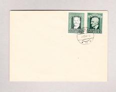 Österreich 40g Ungezähnt Bruckner (Ausschnitt) Und 20g Ziehrer 4.10.1949 Wien 46 Auf Brief Ohne Adresse - 1945-.... 2. Republik