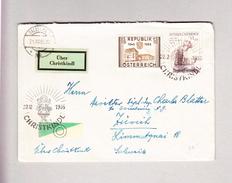 """Österreich 22.12.1955 CHRISTKINDL Von Salzburg """"über Christkindl"""" Nach Zürich - 1945-.... 2. Republik"""