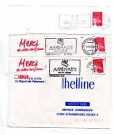 Lettre Flamme Annemasse Haute Savoie 3 Types - Poststempel (Briefe)