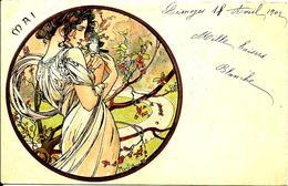 A. Mucha Postcard (Mesi Dell'anno) - Mucha, Alphonse