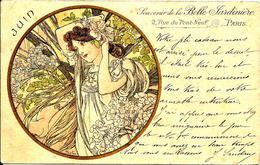A. Mucha (Mesi Dell'anno) Giugno - Pubblicitaria: La Belle Jardiniere 1905 - Mucha, Alphonse