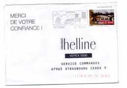 Lettre Flamme Artonne Belvedere - Poststempel (Briefe)