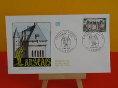 FDC - Châteaus De La Loire, Château De Langeais - 37 Langeais - 4.5.1968 - 1er Jour, Coté 2,50 € - FDC