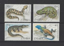 ZAMBIE . YT  306/309  Neuf **  Faune. Reptiles  1984 - Zambie (1965-...)