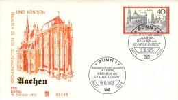 R Michel # 788 EF Mit SST  Sonderpostwertzeichen Aachen, Bremen Und Saarbrucken - FDC: Sobres