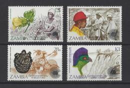 ZAMBIE . YT  274/277  Neuf **  Journée Du Commonwealth. Logo De La Journée  1983 - Zambie (1965-...)
