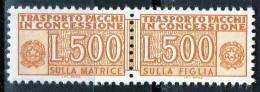 PIA - ITA - Specializzazione : 1976 :  Pacchi In Concessione £ 500   - (SAS 19 - CAR 42) - 6. 1946-.. República
