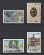 ZAMBIE . YT  368/371  Neuf **  20e Anniversaire De L'Université De Zambie  1987 - Zambie (1965-...)