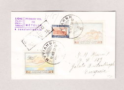 Griechenland Erstflug Metelin-Constantinople 18.2.1930 Metelin Brief Nach Galata Turquie - Poste Aérienne