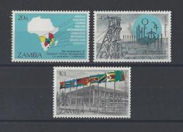 ZAMBIE . YT  322/324  Neuf **  5e Anniversaire De La S.A.D.C.C.  1985 - Zambie (1965-...)
