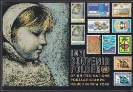 UN - United Nations New York 1971 MNH Souvenir Folder - Year Pack - Non Classés