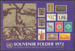 UN - United Nations New York 1972 MNH Souvenir Folder - Year Pack - Non Classés