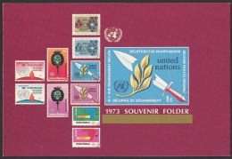 UN - United Nations New York 1973 MNH Souvenir Folder - Year Pack - Non Classés