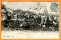 CAL1278, Montdidier, Eglise St-Pierre, Faubourg Becquerel, Précurseur, Circulée 1904 - Montdidier