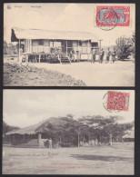Congo 2 Cartes. Petit Poste, Résidence Du Poste De Krebedjé - Congo Français - Autres