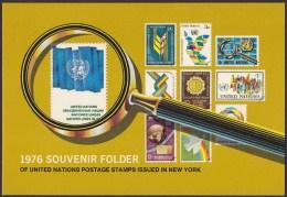 UN - United Nations New York 1976 MNH Souvenir Folder - Year Pack - Non Classés