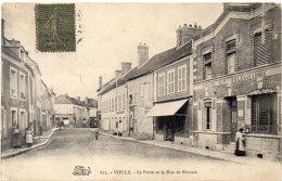 VOULX - La Poste Et La Rue De Blennes (90839) - Other Municipalities