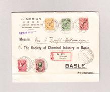 China 23.11.1920 Schanghai Poste Russe R-Brief Nach Basel Mit Russische Frankatur