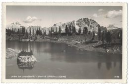 UC146      Belluno - Lago Da Lago , Monte Cristallo Retro Annullo Rifugio Croda Vg.1938 - Belluno