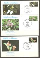 Wallis And Futuna 1982 Orchids F.D.C. - Brieven En Documenten