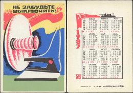 USSR. 1987. Iron. Fer à Repasser. Fire Safety - Calendriers