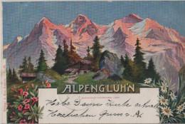 Alpenglühn Mit Alphütte - Eiger Mönch Jungfrau - A. Enz No. 53 - Künstlerkarte - Von Andermatt Nach Schönenwerd - BE Berne