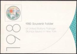 UN - United Nations New York 1980 MNH Souvenir Folder - Year Pack - New York – UN Headquarters