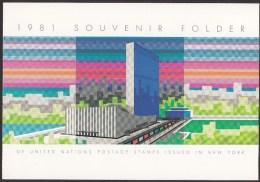 UN - United Nations New York 1981 MNH Souvenir Folder - Year Pack - New York – UN Headquarters