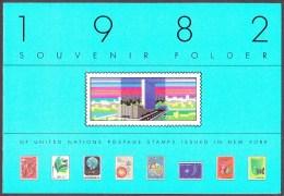 UN - United Nations New York 1982 MNH Souvenir Folder - Year Pack - New York – UN Headquarters
