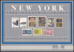 UN - United Nations New York 1983 MNH Souvenir Folder - Year Pack - New York – UN Headquarters