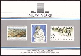 UN - United Nations New York 1984 MNH Souvenir Folder - Year Pack - New York – UN Headquarters