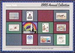 UN - United Nations New York 1985 MNH Souvenir Folder - Year Pack - New York – UN Headquarters