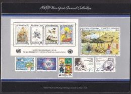 UN - United Nations New York 1986 MNH Souvenir Folder - Year Pack - New York – UN Headquarters
