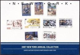 UN - United Nations New York 1987 MNH Souvenir Folder - Year Pack - New York – UN Headquarters