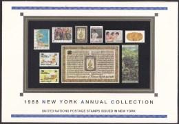 UN - United Nations New York 1988 MNH Souvenir Folder - Year Pack - New York – UN Headquarters